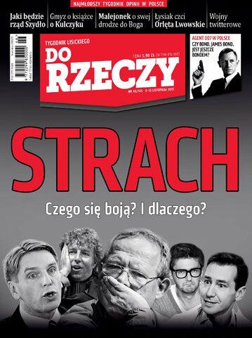 """Okładka tygodnika """"Do Rzeczy"""", wydanie nr 46/2015 (145)"""