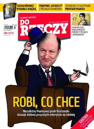 """Okładka tygodnika """"Do Rzeczy"""", wydanie nr 27/2013 (27)"""