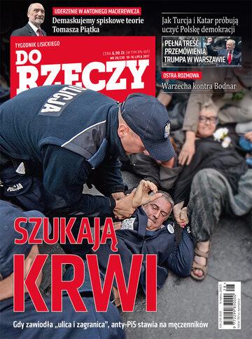 """Okładka tygodnika """"Do Rzeczy"""", wydanie nr 28/2017 (230)"""
