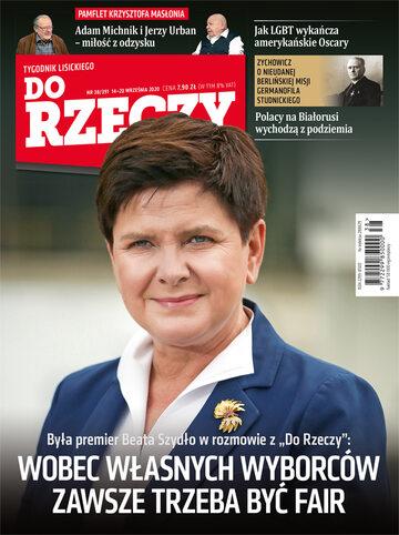"""Okładka tygodnika """"Do Rzeczy"""", wydanie nr 38/2020 (391)"""
