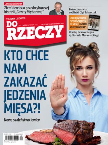 """Okładka tygodnika """"Do Rzeczy"""", wydanie nr 42/2019 (344)"""