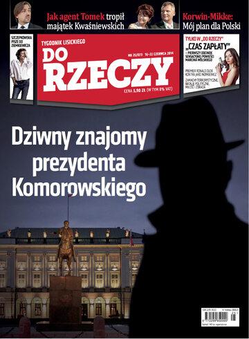 """Okładka tygodnika """"Do Rzeczy"""", wydanie nr 25/2014 (73)"""
