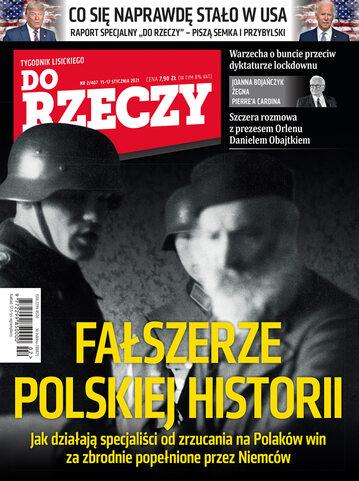 """Okładka tygodnika """"Do Rzeczy"""", wydanie nr 2/2021 (407)"""