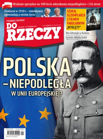 """Okładka tygodnika """"Do Rzeczy"""", wydanie nr 45/2018 (297)"""