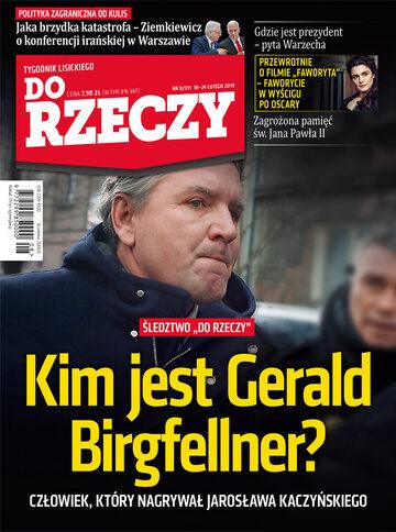 """Okładka tygodnika """"Do Rzeczy"""", wydanie nr 8/2019 (311)"""