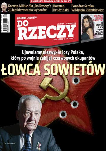 """Okładka tygodnika """"Do Rzeczy"""", wydanie nr 49/2014 (97)"""