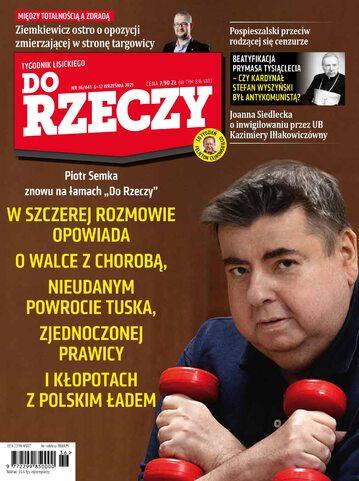 """Okładka tygodnika """"Do Rzeczy"""", wydanie nr 36/2021 (441)"""