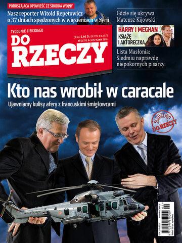 """Okładka tygodnika """"Do Rzeczy"""", wydanie nr 2/2018 (255)"""