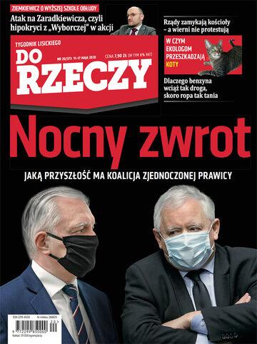 """Okładka tygodnika """"Do Rzeczy"""", wydanie nr 20/2020 (373)"""