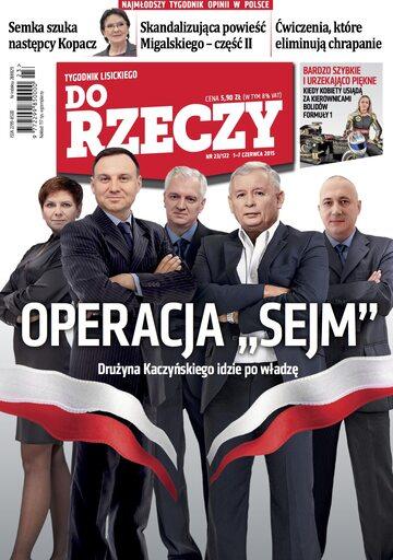 """Okładka tygodnika """"Do Rzeczy"""", wydanie nr 23/2015 (122)"""