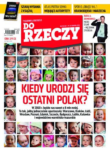 """Okładka tygodnika """"Do Rzeczy"""", wydanie nr 30/2013 (30)"""