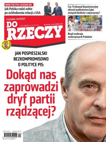 """Okładka tygodnika """"Do Rzeczy"""", wydanie nr 24/2021 (429)"""