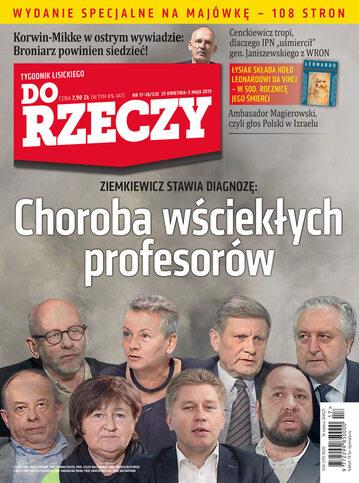 """Okładka tygodnika """"Do Rzeczy"""", wydanie nr 17-18/2019 (320)"""