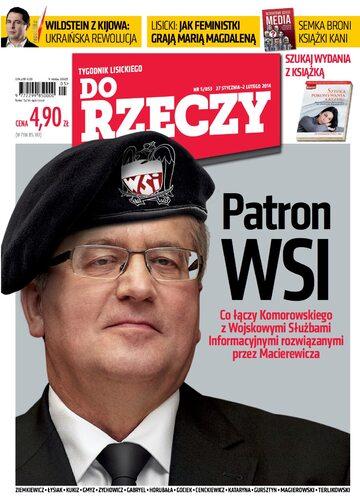 """Okładka tygodnika """"Do Rzeczy"""", wydanie nr 5/2014 (53)"""