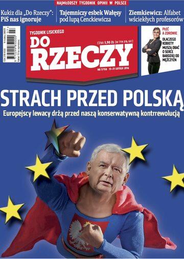 """Okładka tygodnika """"Do Rzeczy"""", wydanie nr 7/2016 (158)"""