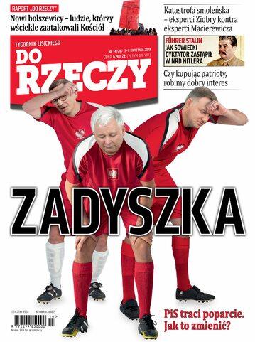 """Okładka tygodnika """"Do Rzeczy"""", wydanie nr 14/2018 (267)"""