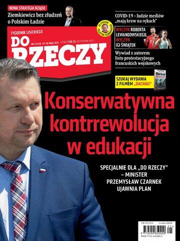 """Okładka tygodnika """"Do Rzeczy"""", wydanie nr 21/2021 (426)"""