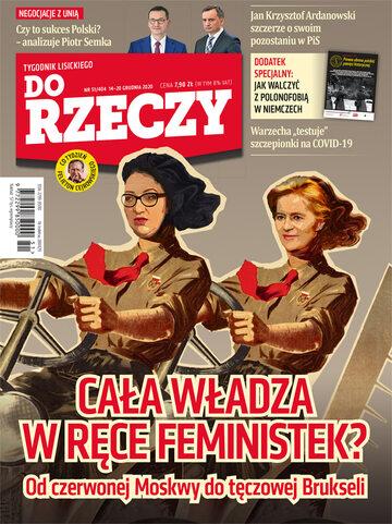 """Okładka tygodnika """"Do Rzeczy"""", wydanie nr 51/2020 (404)"""