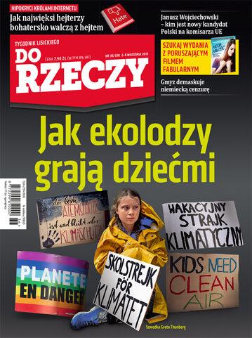 """Okładka tygodnika """"Do Rzeczy"""", wydanie nr 36/2019 (338)"""