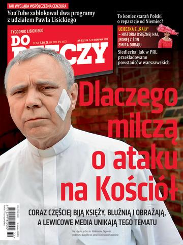 """Okładka tygodnika """"Do Rzeczy"""", wydanie nr 32/2019 (334)"""