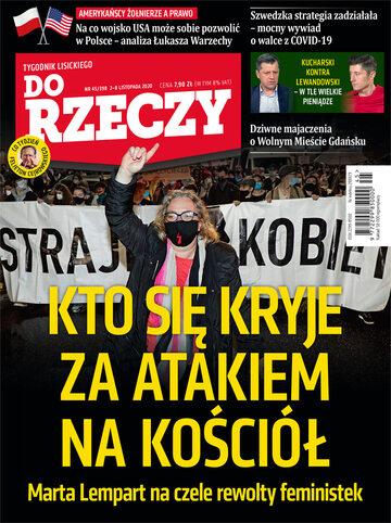 """Okładka tygodnika """"Do Rzeczy"""", wydanie nr 45/2020 (398)"""