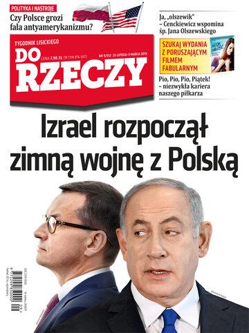 """Okładka tygodnika """"Do Rzeczy"""", wydanie nr 9/2019 (312)"""