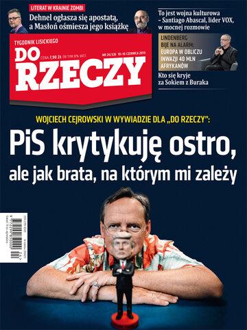 """Okładka tygodnika """"Do Rzeczy"""", wydanie nr 24/2019 (326)"""