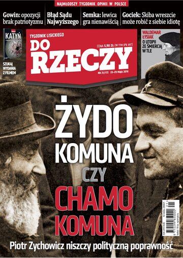 """Okładka tygodnika """"Do Rzeczy"""", wydanie nr 21/2016 (172)"""