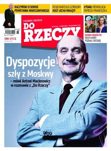 """Okładka tygodnika """"Do Rzeczy"""", wydanie nr 36/2013 (36)"""