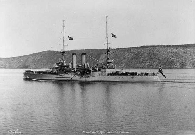 Pancernik Norge w1910 roku.