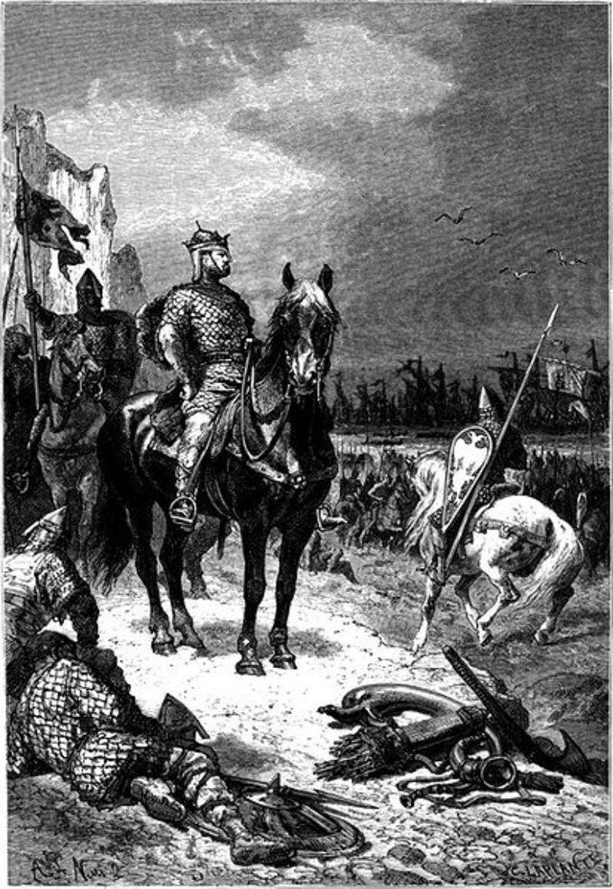 Alphonse de Neuville, Lądowanie Wilhelma Zdobywcy wAnglii