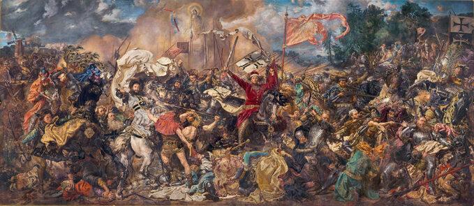 """""""Bitwa podGrunwaldem"""", obraz Jana Matejki z1878 roku"""