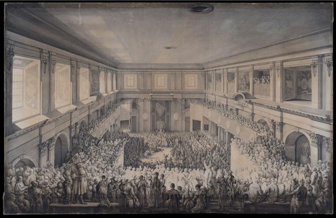 Jean-Pierre Norblin de la Gourdaine, Uchwalenie Konstytucji 3 Maja 1791
