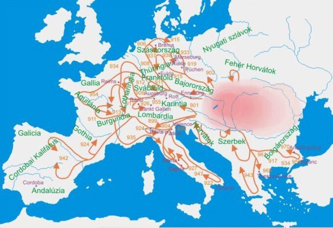 Kierunki ekspansji Węgrów wX wieku