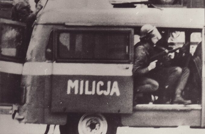 Akcja MO wczasie stanu wojennego. Autor nieznany