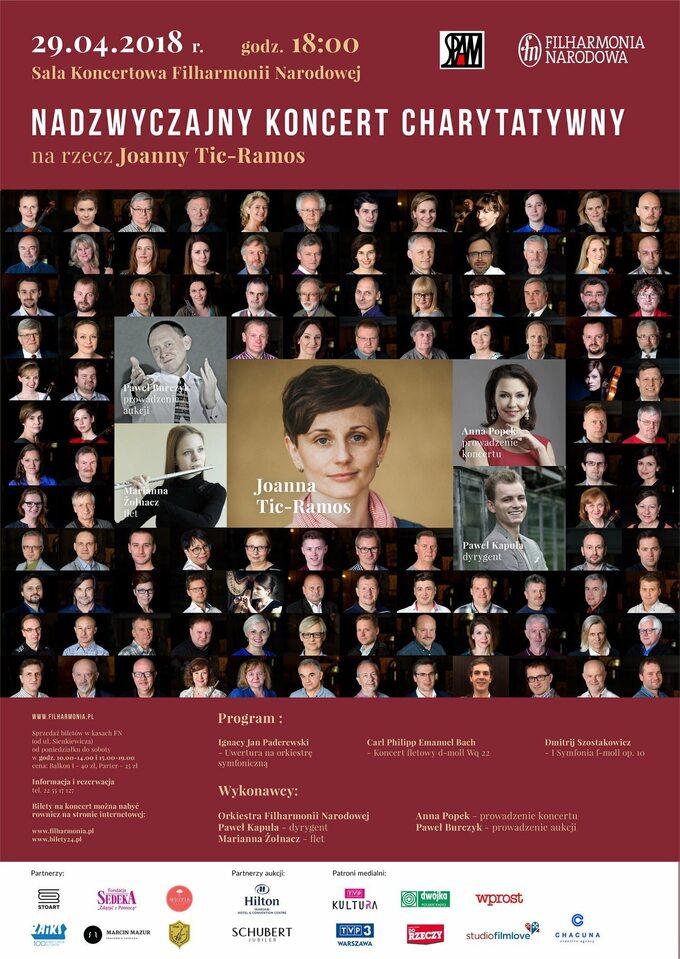 Koncert charytatywny narzecz Joanny Tic-Ramos