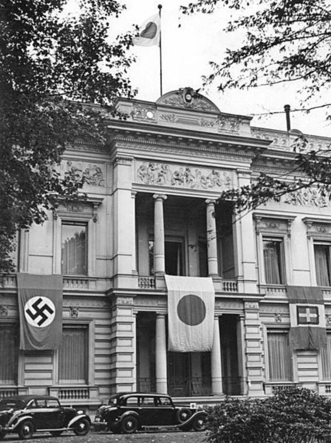 Ambasada Japonii wBerlinie popodpisaniu Paktu trzech, koniec września 1940