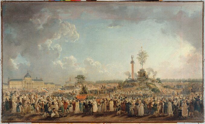 Pierre-Antoine Demachy, Uroczystości związane zkultem Istoty Najwyższej