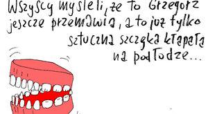 Sztuczna szczęka Grzegorza