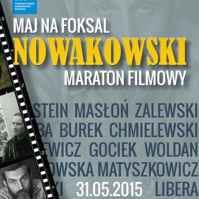 Maj na Foksal: Marek Nowakowski - maraton filmowy