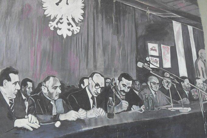 Podpisanie porozumień sierpniowych – rysunek
