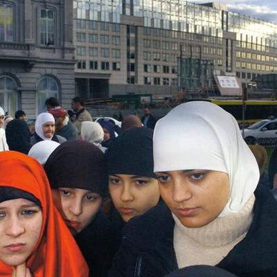 Parada burek w Brukseli
