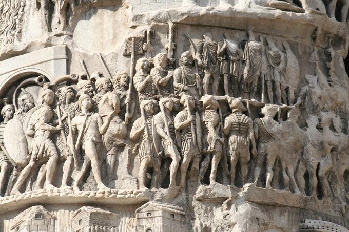 Rzymscy legioniści zKolumny Marka Aureliusza