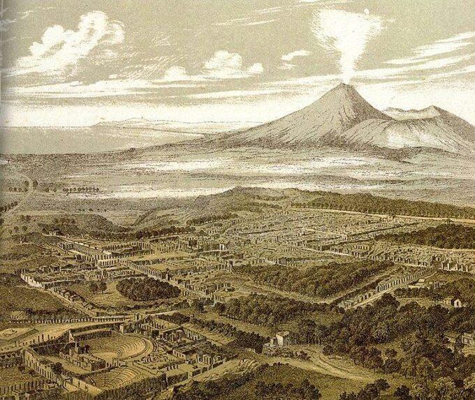 Friedrich Federer, Pompeje (litografia, 1850 rok)