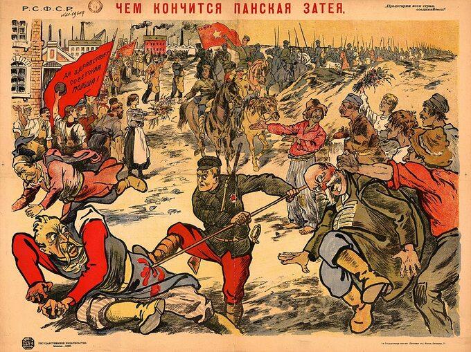 """""""Oto czym kończą się pańskie pomysły"""" – sowiecki plakat propagandowy z1920"""