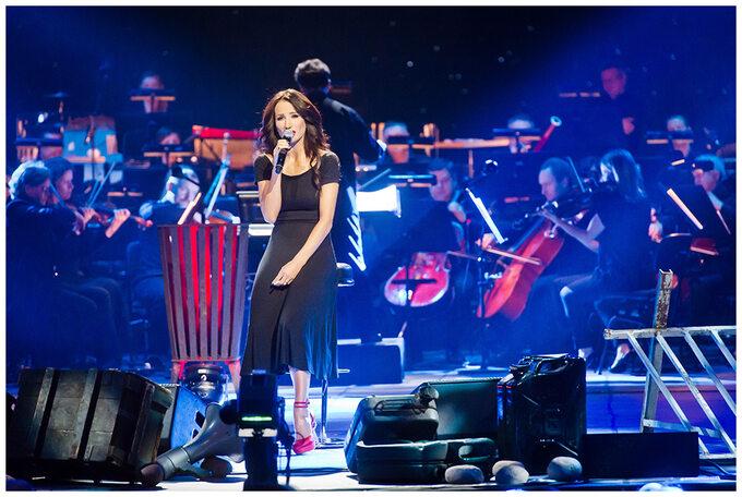 Justyna Steczkowska podczas koncertu wTeatrze Wielkim