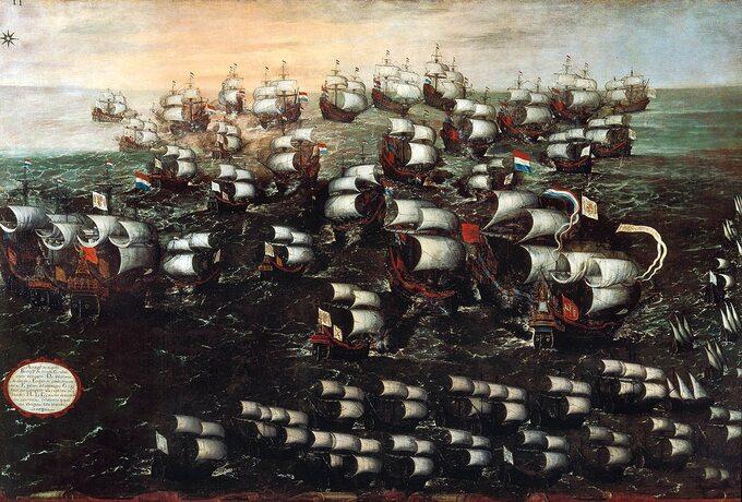 Juan de la Corte, Bitwa podAlbrolhos (1631). Starcie pomiędzy Hiszpanią aNiderlandami uwybrzeży Pernambuco