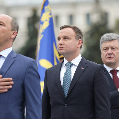 Andrzeja Dudy na obchodach święta niepodległości Ukrainy