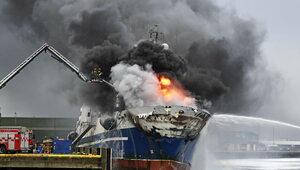 U wybrzeży Norwegii płonie rosyjski statek. Trwa akcja służb