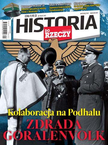 """Okładka miesięcznika """"Historia Do Rzeczy"""" nr 9/2021 (103)"""